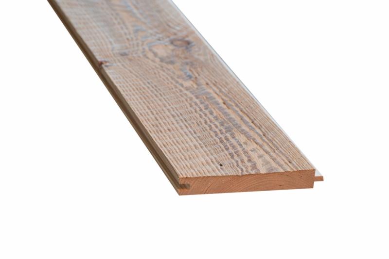 Oude ruwe planken met mes & groef gedroogd / geborsteld kleur Licht Bruin