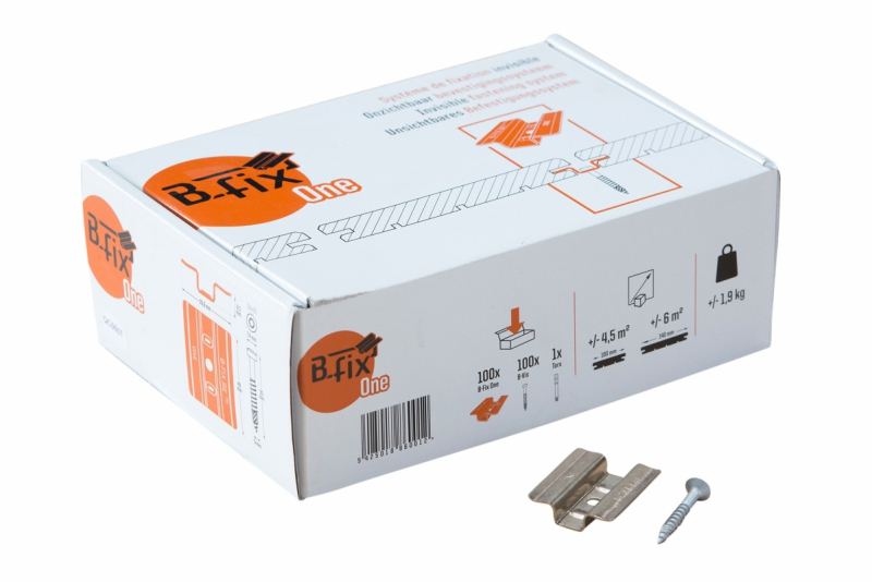 B-Fix one clips RVS voor Padouk en Ipé