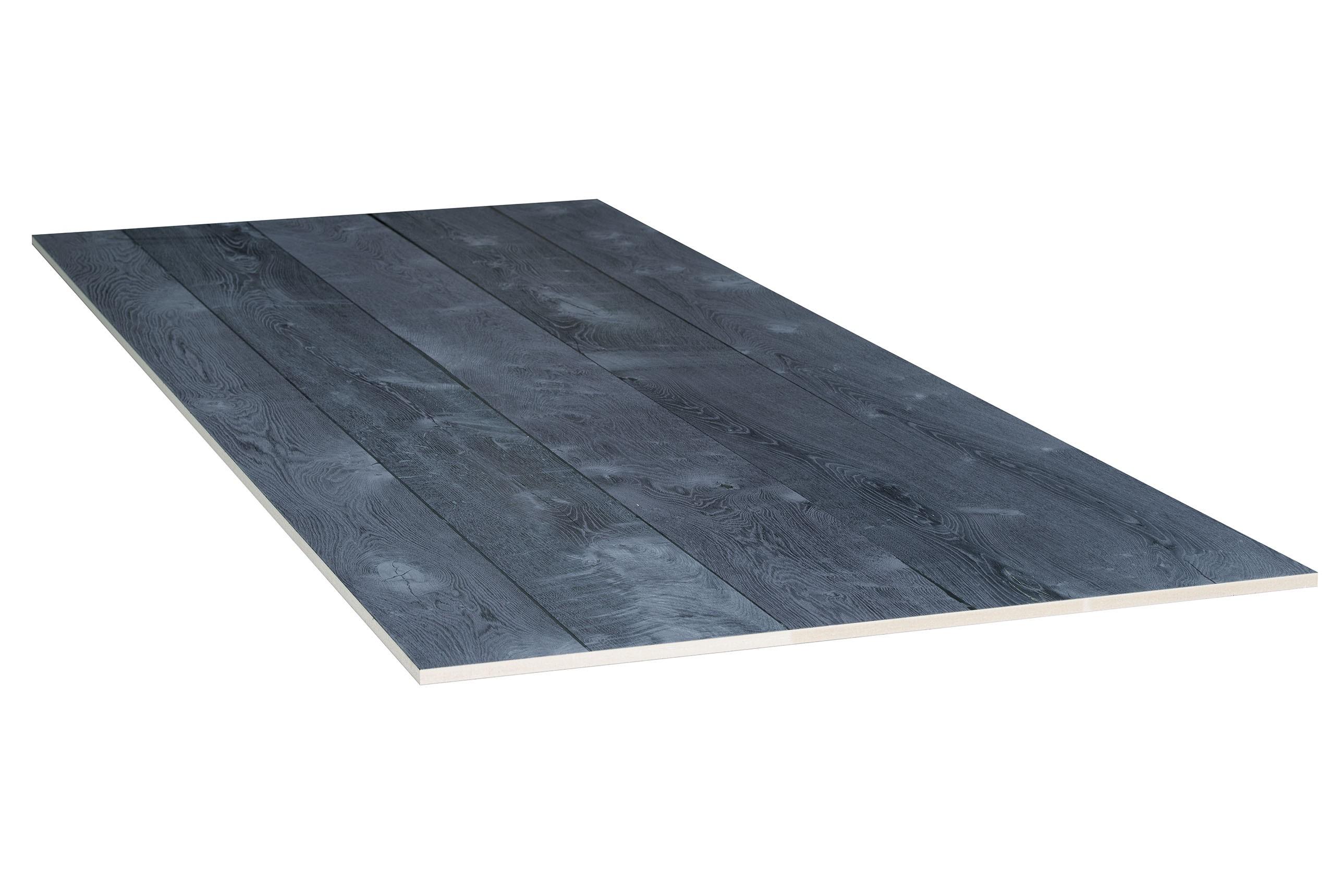Eiken Balkenhout fineer 0,9 mm op  grafiet grijs geborsteld   20x1210x3040 mm