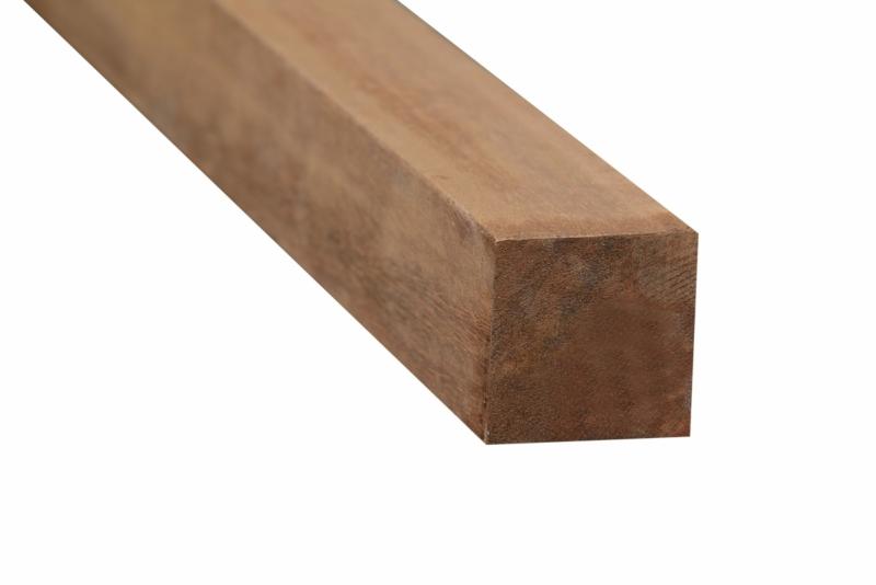 Hardhouten palen geschaafd+gepunt 88x88 mm