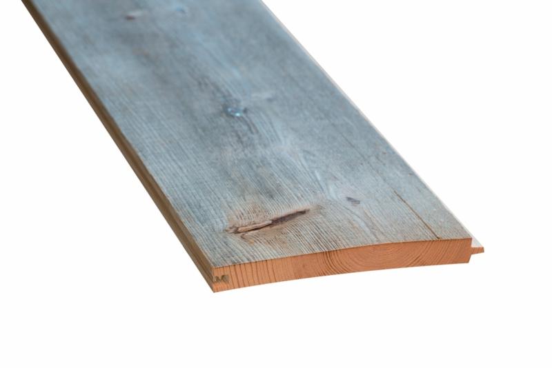 Oude ruwe planken met mes & groef gedroogd / geborsteld kleur Grijs