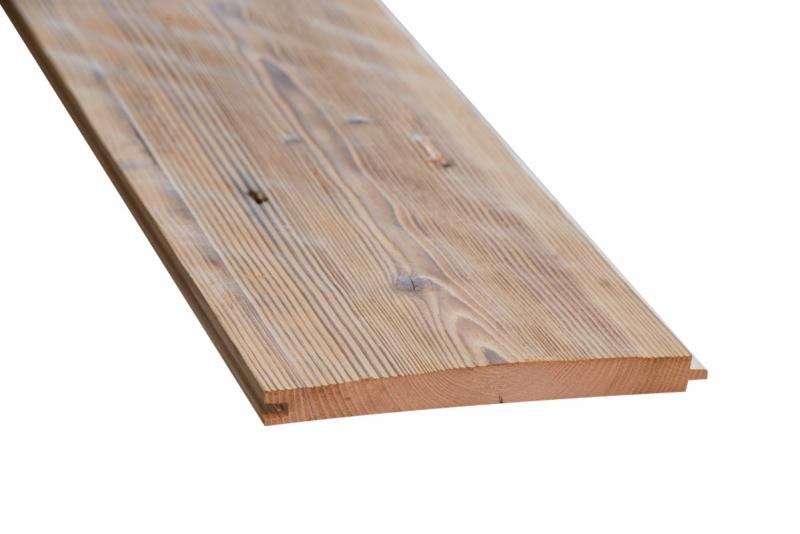 Oude ruwe planken met mes & groef gedroogd / geborsteld kleur Bruin