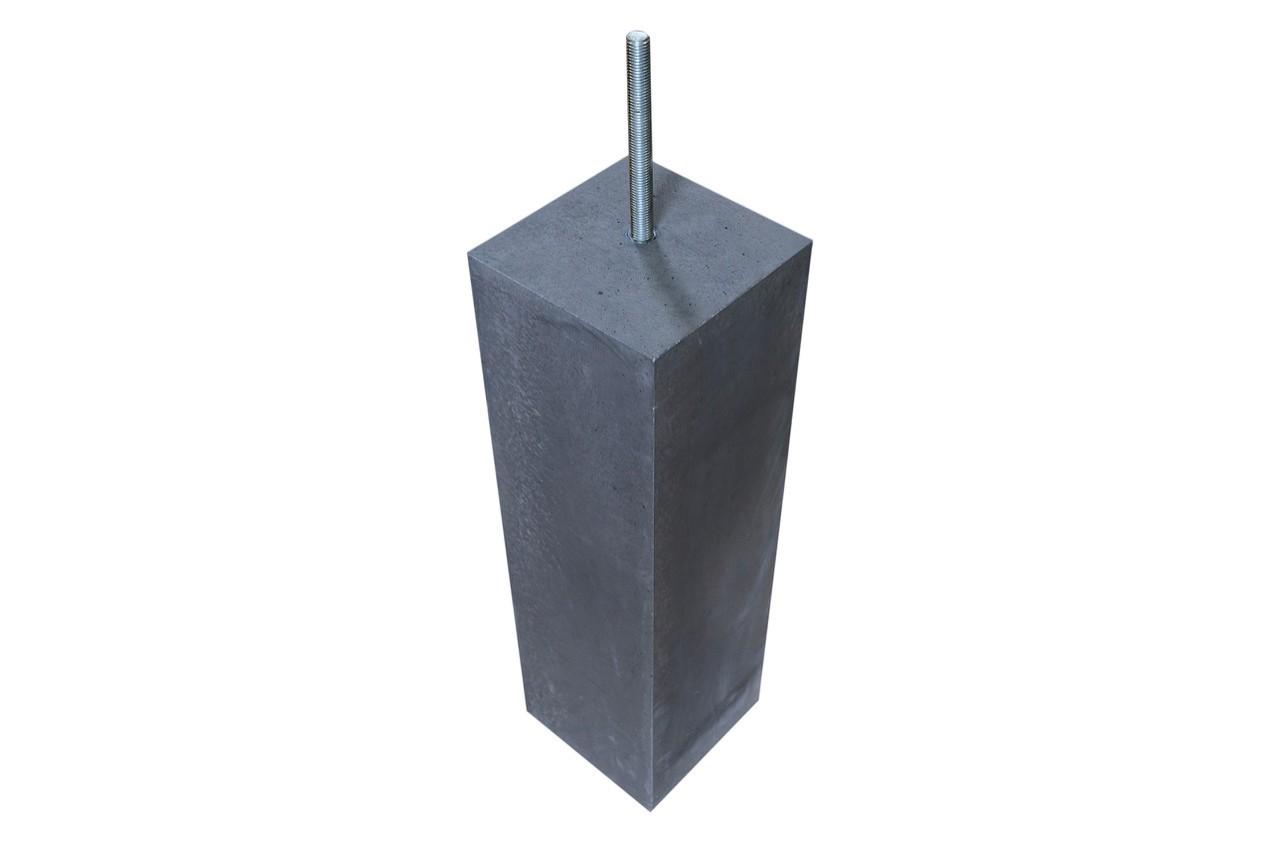 Betonpoer antraciet 200 mm zonder facet rand