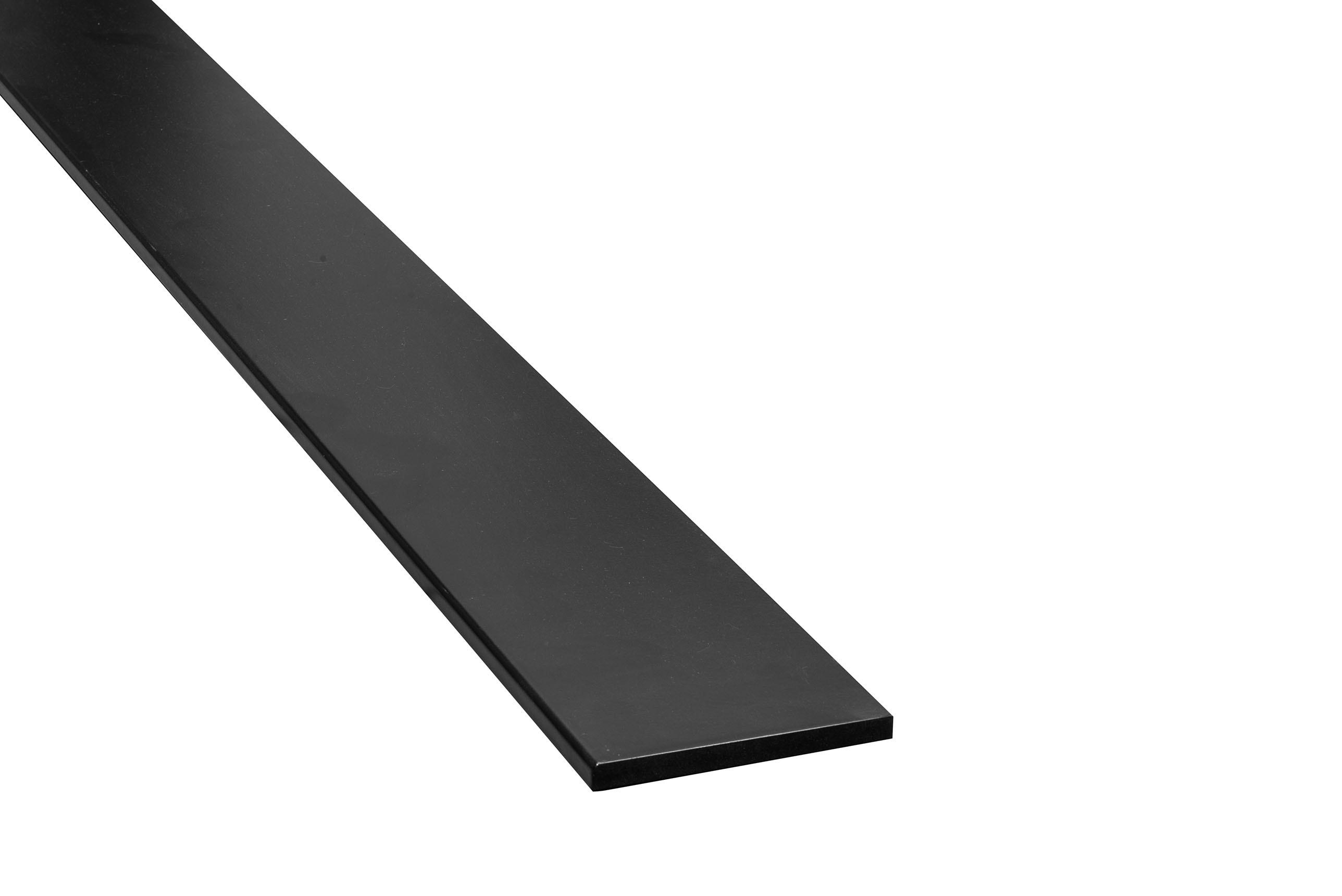 MDF Plint zwart gelakt 12x140mm