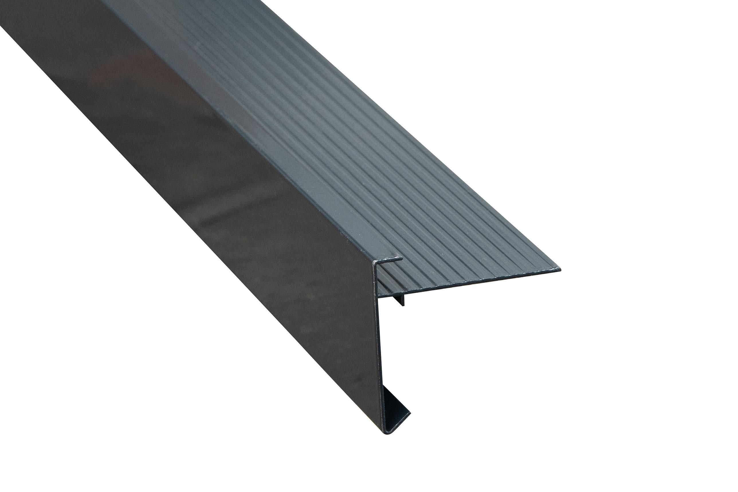 Aluminium daktrim antraciet  60 x 45 mm