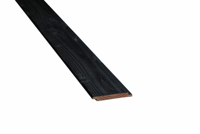 Douglas fins rabat zwart 18x125