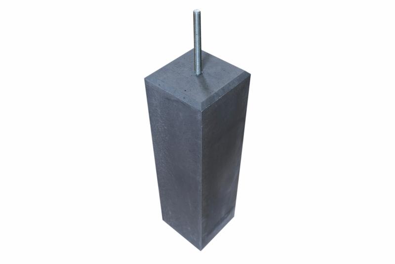 Betonpoer antraciet 150 mm met facetrand