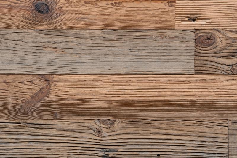 Oude ruwe planken met mes & groef gedroogd / geborsteld kleur Mixed Color