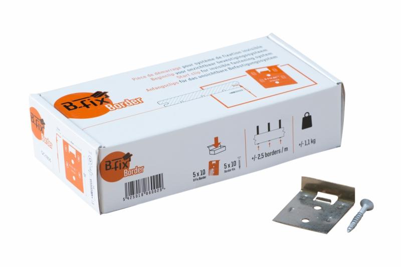 B-Fix borderclips RVS voor Padouk en Ipé